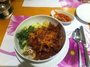 Vietnamese Noodle Beef Dish